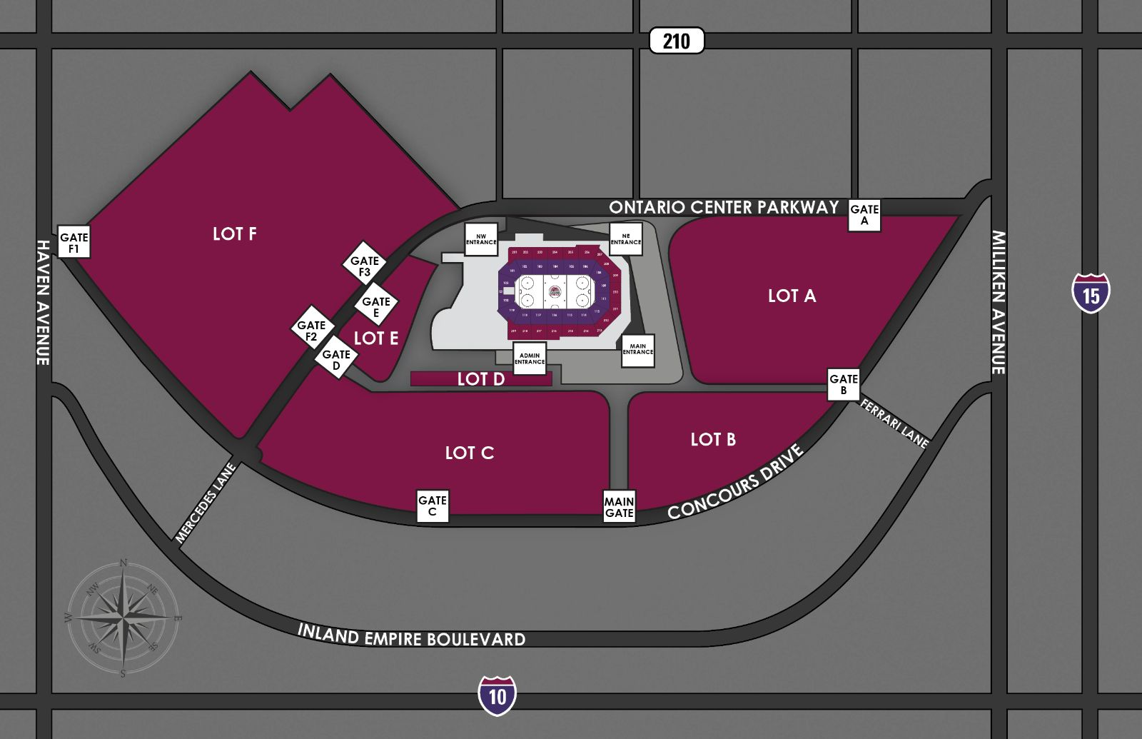 Parking Guide Citizens Business Bank Arena - Parking map us bank stadium